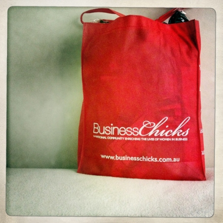 Business Chicks Danni Minogue Breakfast Show bag