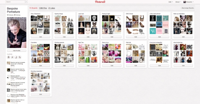 Bespoke Portraiture on Pinterest